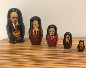 Collectible Russian Leaders Nesting Dolls