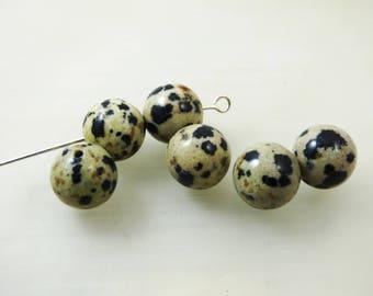 Dalmatian Jasper 10mm round beads