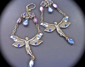 """Earrings: """"Poetic-Tinkerbell fairy"""""""