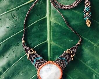 Moonstone Macrame necklace