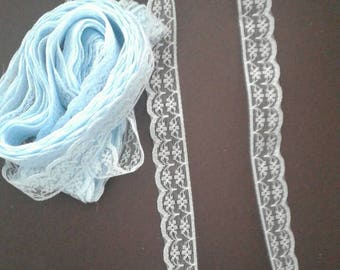 2m pale blue lace - sewing, knitting, crochet,  card making, papercrafting, scrapbooking,