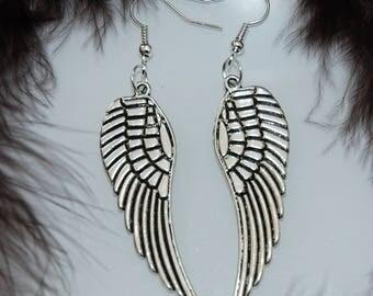 Earrings large Angel Wings