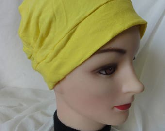 NEON COLOR WAS YELLOW JERSEY CHEMO HAT