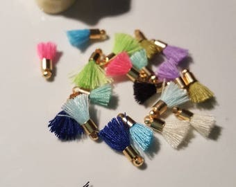 mini 10 x 10 colors and gold tassels