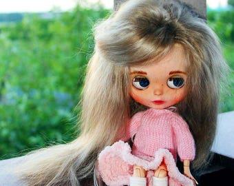 Custom blythe, Blythe TBL, Interior doll, Blythe handmade, Blythe With natural hair, Blythe With reroot, Blythe doll ooak