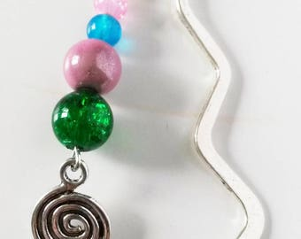 bookmarks multicolor and spiral beads