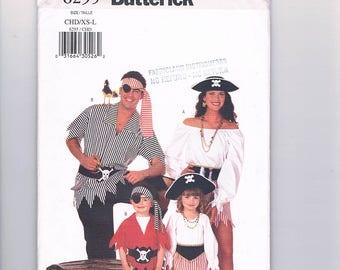 Butterick 6295 Men's/Women's/Children's/Girls/Boys Pirate Costumes UNCUT