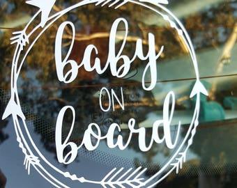 Baby on board car decal sticker