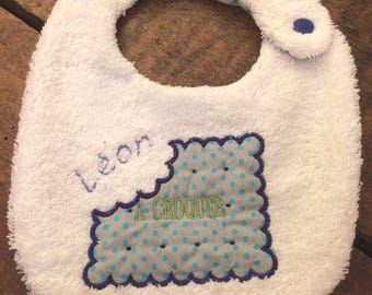 Small custom name bib butter to eat