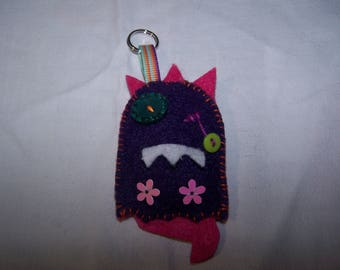 Door - Monster small keys, felt, designer jewelry charms