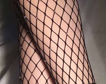 Swarovski bedazzled Fishnet Stockings