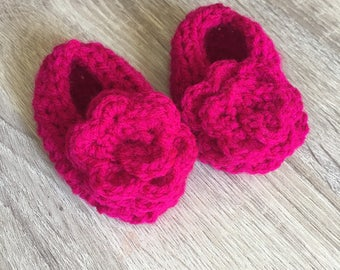 Rose Baby Shoes