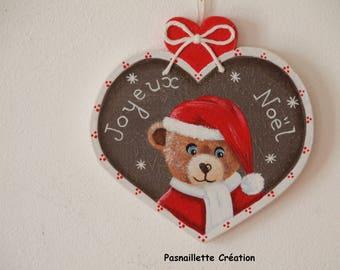TO order: Santa bear to hang (wooden)