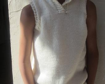 Child timeless vest in Ecru color