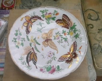 Antique Wedgwood butterfly plate
