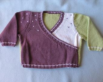 Sweater wrap-12 m knit little girl
