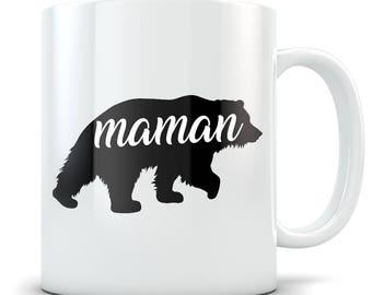 Cadeaux Pour Maman - Cadeaux Pour Femme - Cadeaux Pour Mère - Tasse à Café Maman - Tasse de Café Maman - Maman Ours