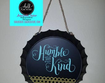 Darling little steel chalkboard with rope hanger.