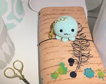 Octopus crochet planner charm / keyring / purse charm