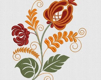 Folk flower Embroidery designs 130x180mm ta003