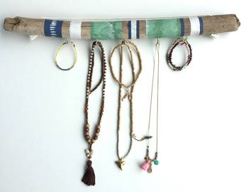 jewelry display stand - Jewelry holder - Bohemian style - Decorative item - Painted driftwood - Homedecor.-