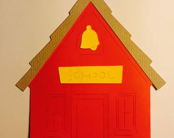 School House Paper Die Cuts (Can come in different colors and sizes)
