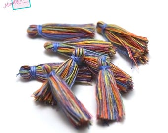 10 tassel cotton multicolor 30 mm, no. 3