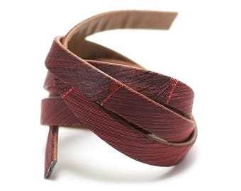 """10 leather strap 1 m x 2 mm, doubled """"Comet"""", red dark"""