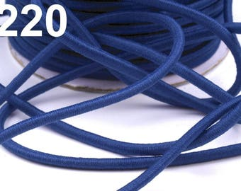 Blue 3 mm elastic cord 1 m