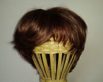 Short dark Auburn hair wig