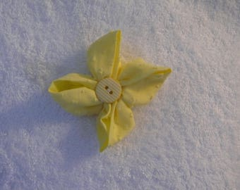 Yellow hair flower clip