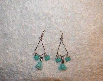 triangular print earring