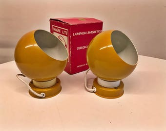 Pair of magnetic lamp Reggiani color Ochre