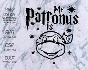 My Patronus is teenage mutant ninja turtles Harry Potter Quote ,SVG,Clipart,esp,dxf,png 300 dpi