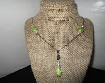 Light Green Beaded Necklace