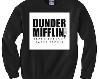 Dunder Mifflin Sweater | Dunder Mifflin Sweatshirt | The Office Themed Sweater | Christmas Sweater Dunder Mifflin | Boyfriend Christmas