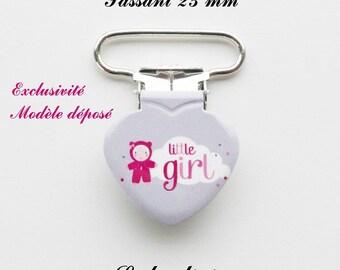 20 clips heart pacifier grey cloud doll Little girl from 25 mm