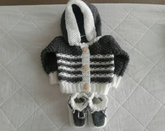 Vest with hood and booties