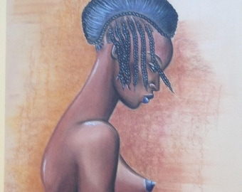 "August challenge ""African long-necked"" great painting inspiration Modigliani"