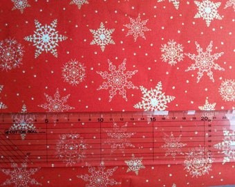 Red snowflakes Christmas fabrics 50 * 55cm
