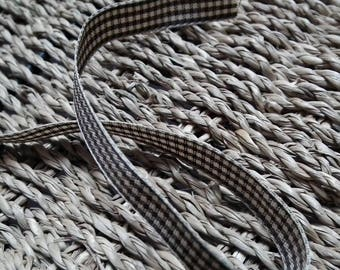A Brown Plaid Ribbon ♥1M 10mm♥ small tiles