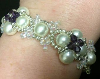Superduo and Pearl Bracelet