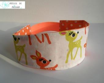 "headband (headscarf, headband) girl ""Fawn and joyful peas"" reversible"