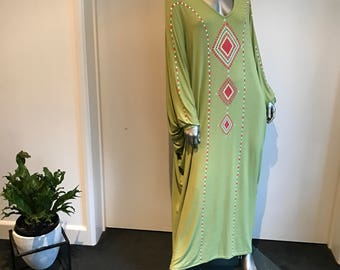 Boho Kaftan Olive Green #3