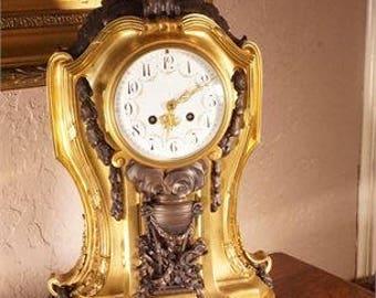 French Samuel Marti Bronze Mantle Clock