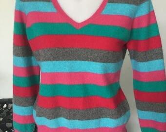 Striped Cashmere Ladies Jumper