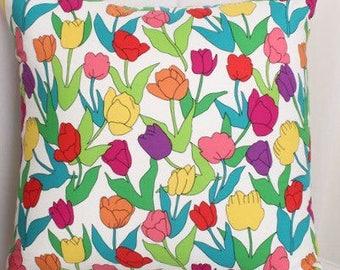 Tulip Garden  Decorative Pillow Cover