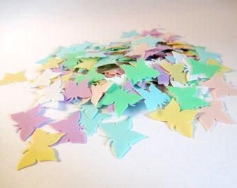 Lot 6g sequins pastel butterflies - embellishments - scrapbooking