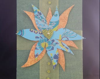 Handmade 3-Dimensional Greeting Card- Gift for Her- One of a Kind- Mother Flight Series