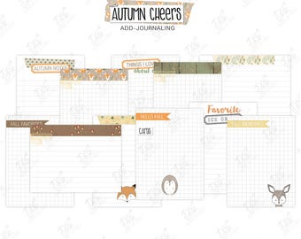 """Scrapbook/ Pocket Page Journaling Cards: """"Autumn Cheers"""""""